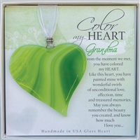 Personalized Gift for Grandma: Handmade Glass Heart