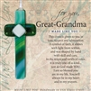 Great Grandma Gift Glass Cross