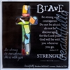 Brave Handmade Glass Cross