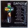 Baptized Handmade Glass Cross