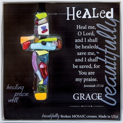 Healed Handmade Glass Cross