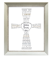 Jesus Loves Me Baby Frame