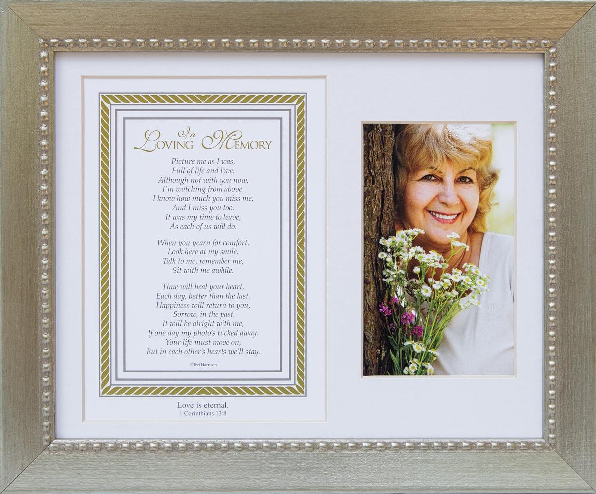 In Loving Memory Memorial Frame With Scripture
