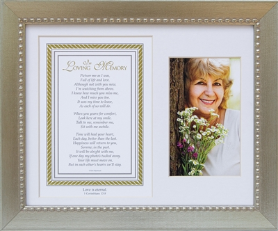 In Loving Memory Memorial Frame with Scripture