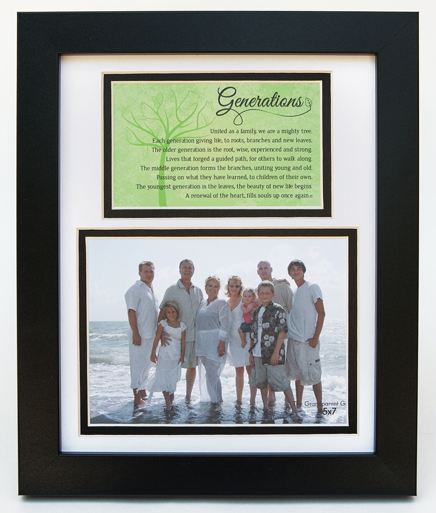 Generations Family Portrait Poem Frame