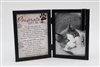 Pawprints Left by You Cat Memorial Frame with Ash Vial