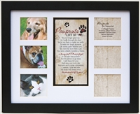 Pawprints Left by You Pet Loss Collage Picture Frame