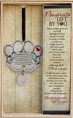Pawprints Left by You Pet Memorial Ornament