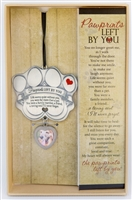Pawprints Left by You Pet Memorial Photo Ornament