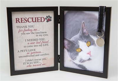 Pet Photo Frame: Cat Rescued