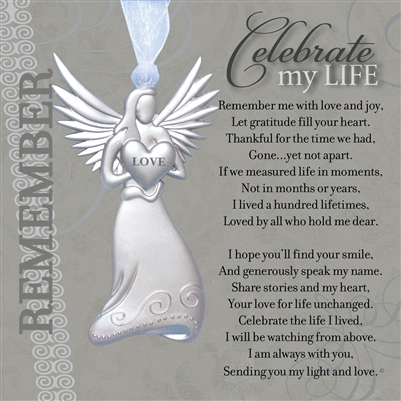 Celebration of Life Angel Ornament