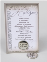 Wedding Day Memorial Gift:  Handmade Pewter Coin