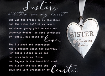Sister Loss Memorial Ornament