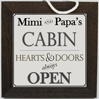 Personalized Grandparent Sign for Cabin