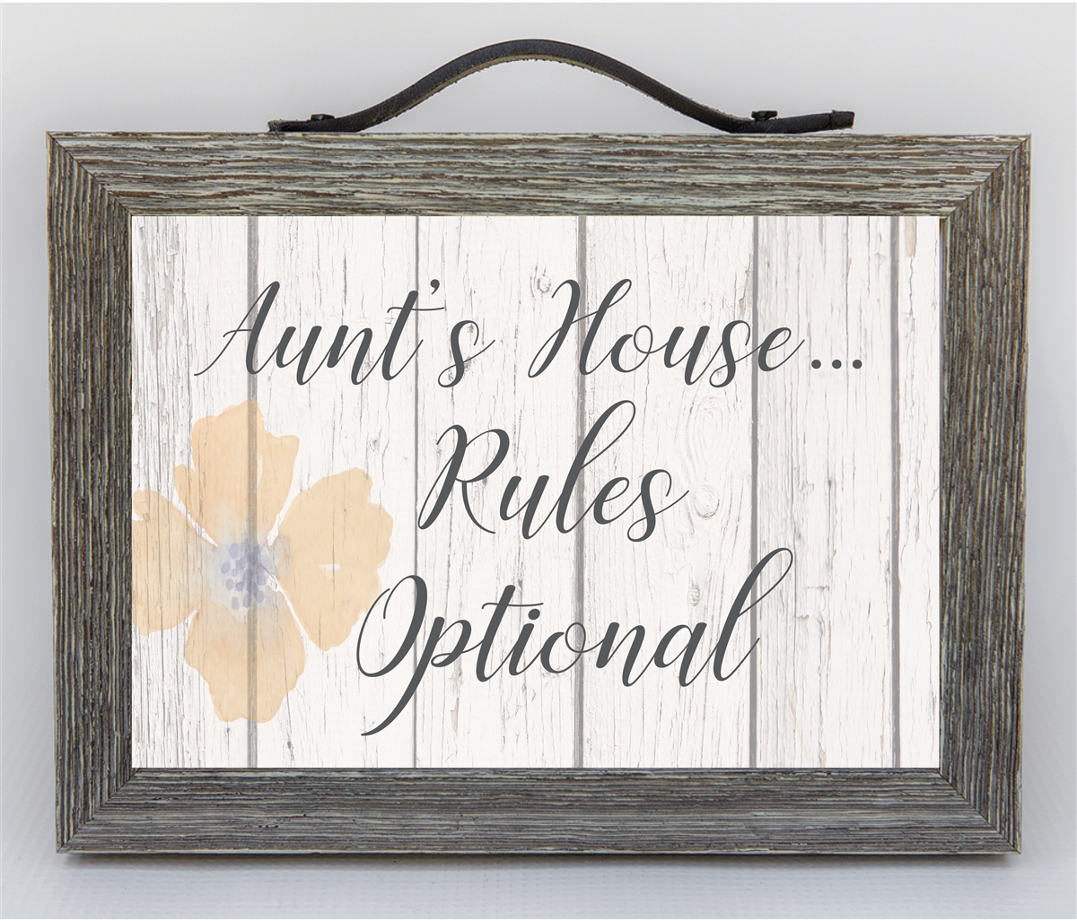 Aunts House Rules Farmhouse Style Frame From Niece Or Nephew