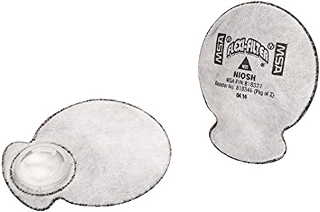 MSA Filters, Flexible, N95/OV/OZONE ,2/PKG, for use with MSA air purifying respirators