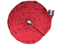 "Key Hose - Big 10 Fire Hose Red, 1.75"" x 50', used fire hose"
