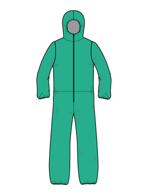 AAMI Level 3 Non-Surgical Reusable Isolation Coverall