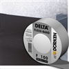 Delta Flexx Band for roofing underlayment, Stretchable sealing tape for inner and outer connections to structural details. Material