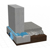 DELTA FOOTING BARRIER acts as a physical barrier, resisting the capillary wicking of water and upward migration of moisture from the footings into the foundation wall that is also known as rising damp. The material is designed to adhere well to the concre