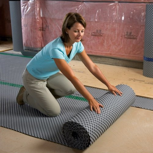 Basement Subfloor Options For Dry Warm Floors: Cosella Dorken DELTA FL Subfloor For Basement. Easy To Install, Buy Subfloor