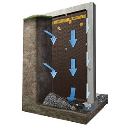 DELTA®-MS dimple board, foundation waterproofing system.