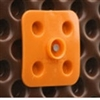 The DELTA®-FAST'ner is a multistud fastener for attaching the DELTA®-MS and DELTA®-DRAIN to the foundation wall. The fastener is used with a DELTA®-NAIL or concrete nail to fasten the DELTA® Membrane in place. The DELTA®-FAST'ner is made of HDPE and is or