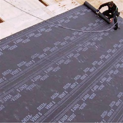 DELTA®-VENT S is a supertough, lightweight roofing underlay. The 3-layer, high strength spun-bonded PP breather membrane is water vapor permeable, while completely waterproof. A fabric layer on the lower side protects the membrane against damage (eg. roug