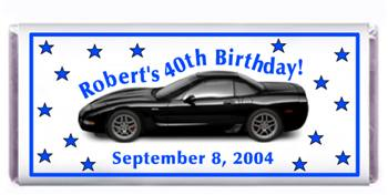 Birthday Corvette Candy Bar