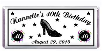 Birthday Sparkle Shoe Candy Bar