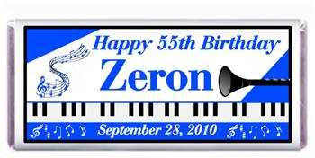 Birthday Piano Music Candy Bar