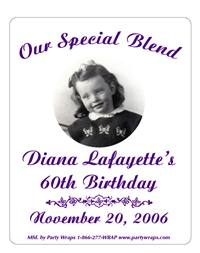 Birthday Photo Label