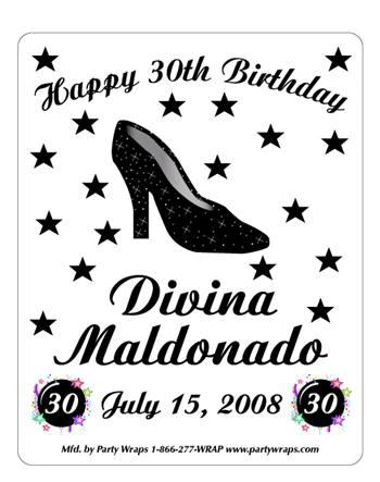 Birthday Sparkle Shoe Label