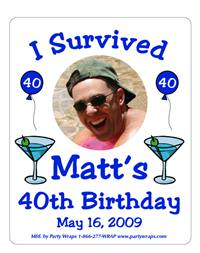 Birthday Martini Label