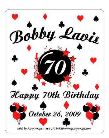 Birthday Poker Burst Label
