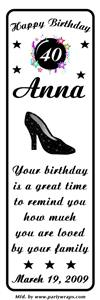 Birthday Sparkle Shoe Bookmarker