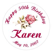 Birthday Rose Label