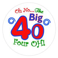 Birthday Big 40 Label