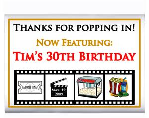 Birthday Movie Popcorn