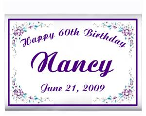 Birthday Purple Rose Border