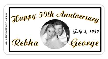 Anniversary Photo Label