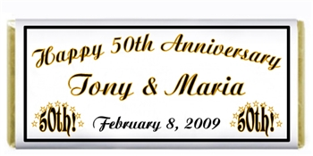 Anniversary 50th Candy Bar