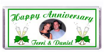 Anniversary Champagne Glasses Bow Candy Bar