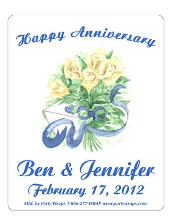 Anniversary Bouquet Label