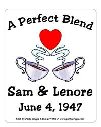 Anniversary Coffee Cups Label