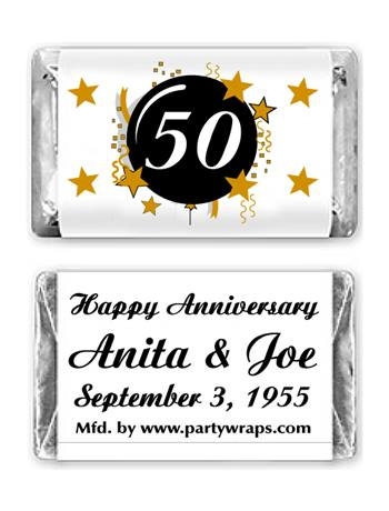 Anniversay Miniature Candy Bars Graphic