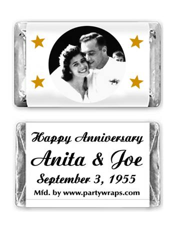 Anniversary Miniature Candy Bars Photo
