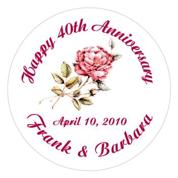 Anniversary Rose Label