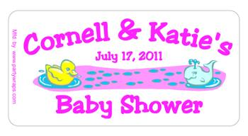 Baby Shower Ducky & Whale Label
