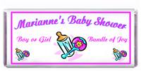 Baby Shower Bottle Rattle Candy Bar